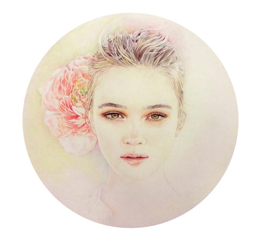 Helena Zingarella ~ Pencil portrait illustration
