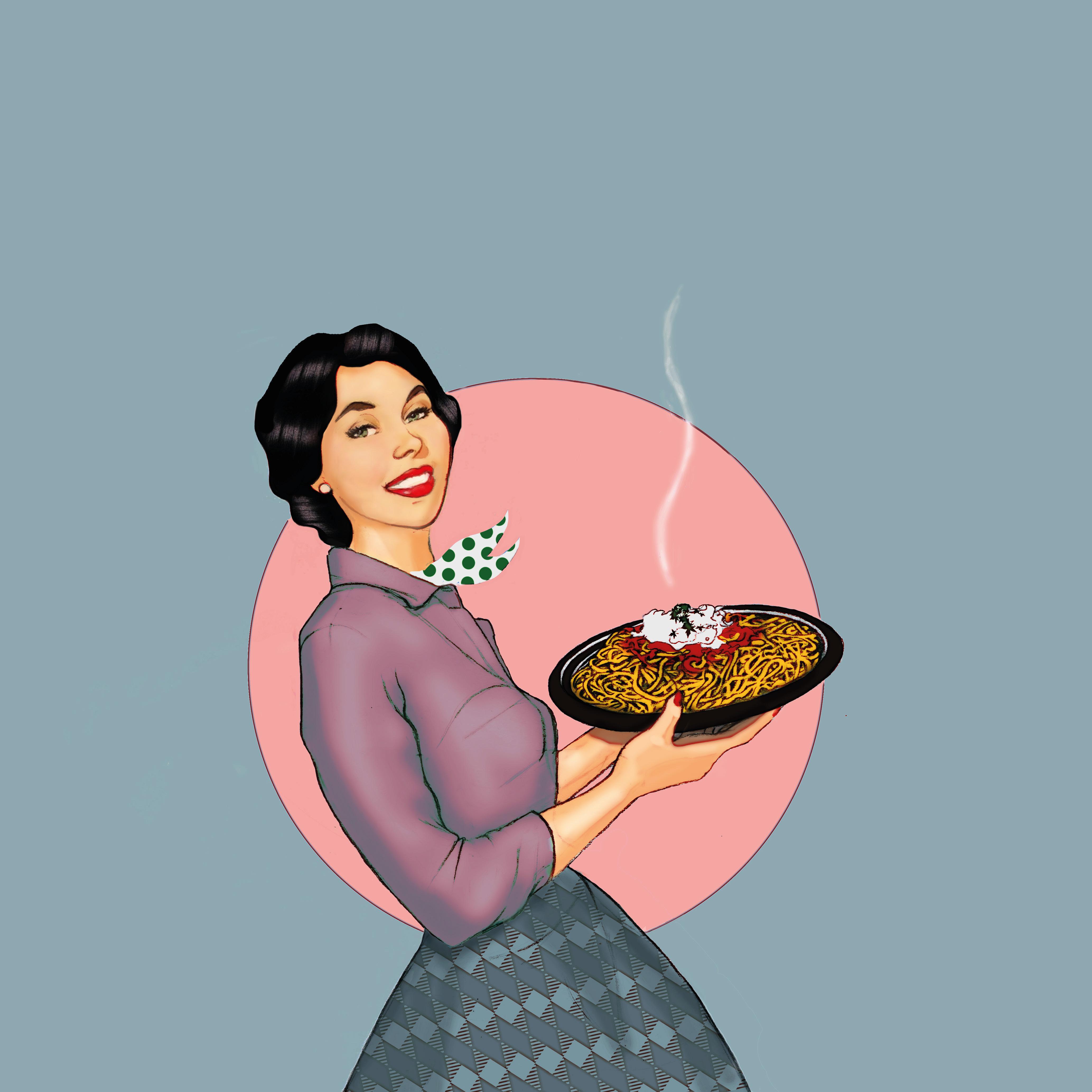 Helena Zingarella ~ 50ies pasta illustration